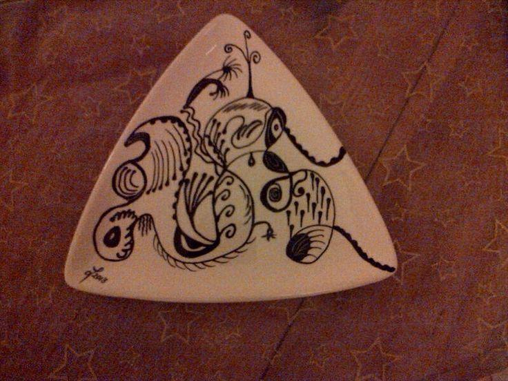 Zentangel hand painted by Lynda for a special friend Jax