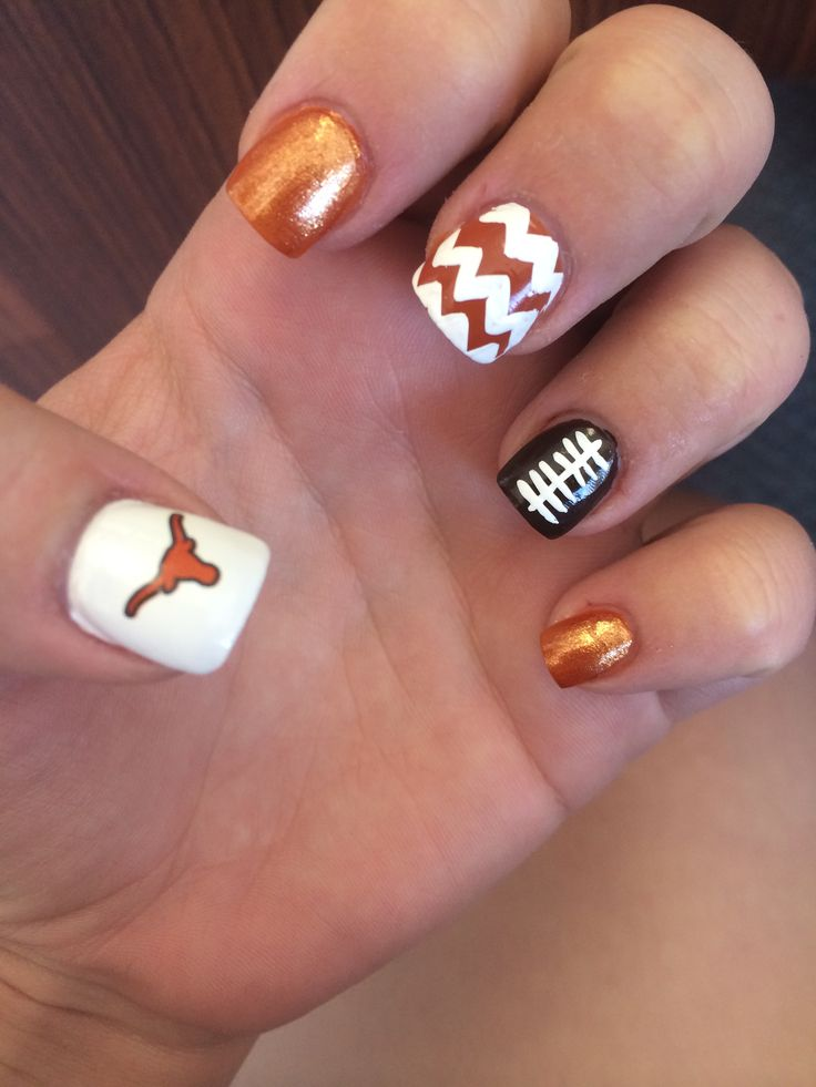 Texas Longhorn football nails! Hook 'em!