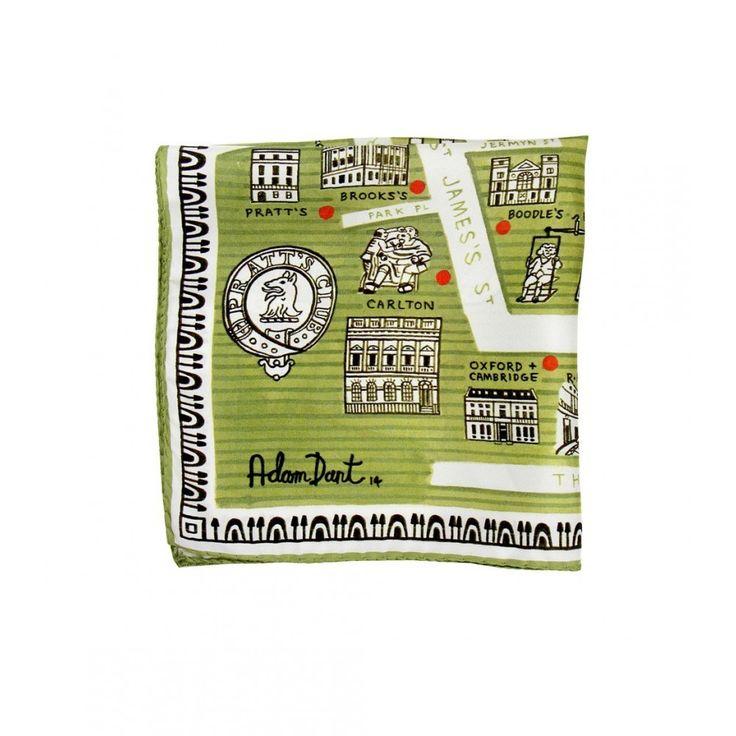 Drake's x Adam Dant Pocket Square - Pocket Squares - Online Shop - Drake's