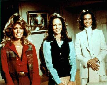 "furiouscrusadeavenue:  ""'Charlie's Angels' Jill, Kelly and Sabrina.  """
