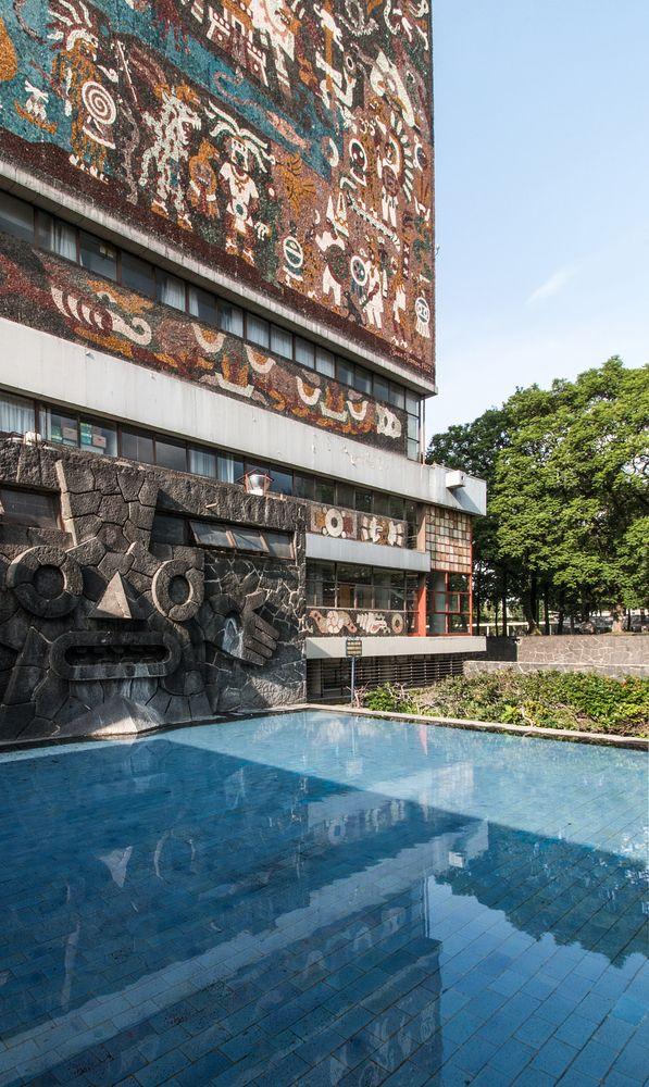 Biblioteca Central, Ciudad Universitaria, UNAM, Cd. de México - Juan O´Gorman - © Adlai Pulido