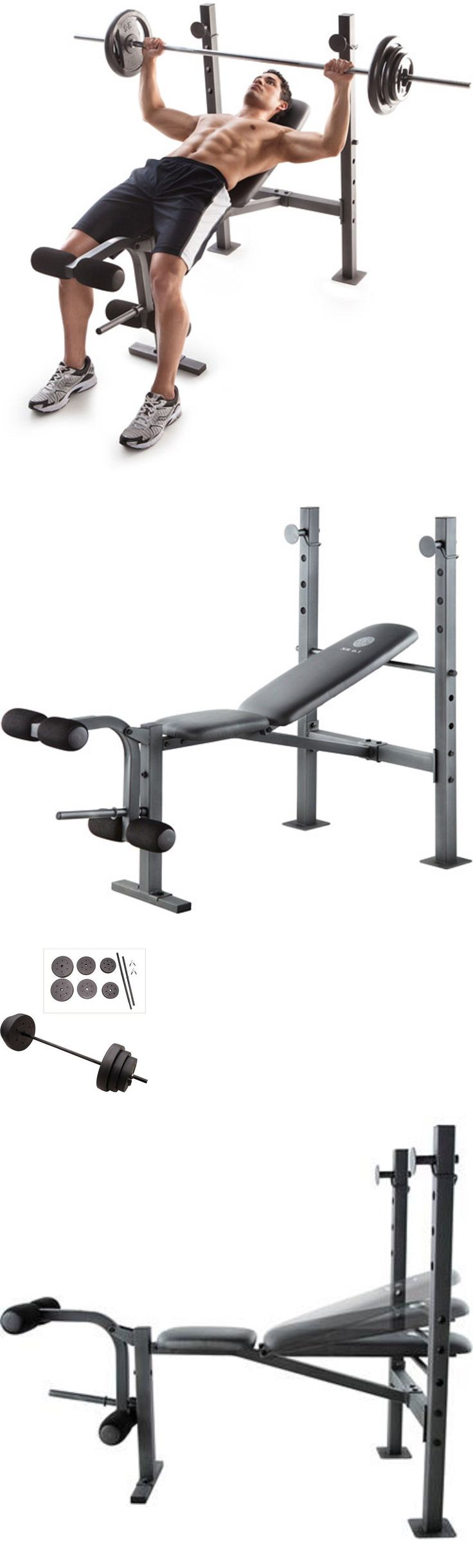 Benches 15281: New 100 Lb Weight Set And Bench Gold Gym Weights Lifting Barbell Exercise Plates -> BUY IT NOW ONLY: $129.88 on eBay!