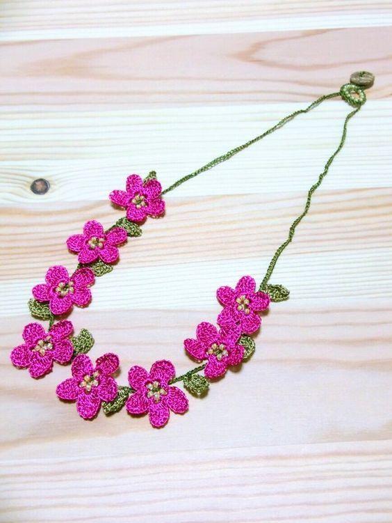 Resultado de imagen de joias crochê