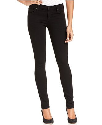 Citizens of Humanity Avedon Skinny Jeans - Jeans - Women - Macy's   Black skinny jeans for a tall girl!