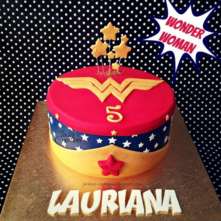 wonder woman birthday | Made this Wonder Woman themed cake for Lauriana's 5th birthday last ...