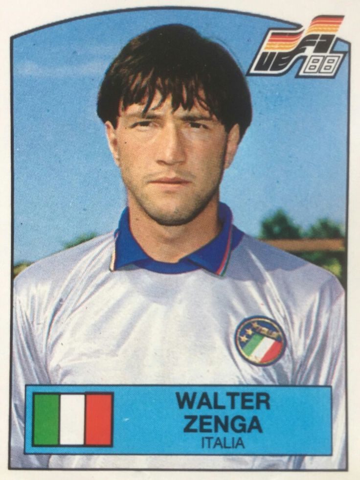 Walter Zenga of Italy. Euro '88 card.