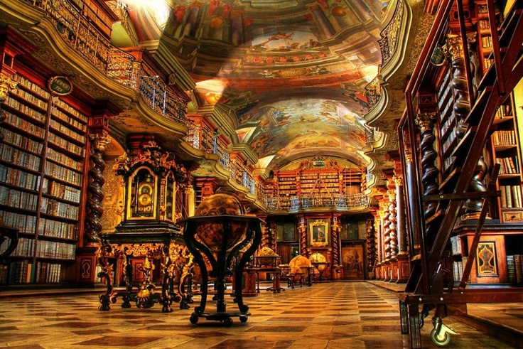 The royal library in the glass castle...