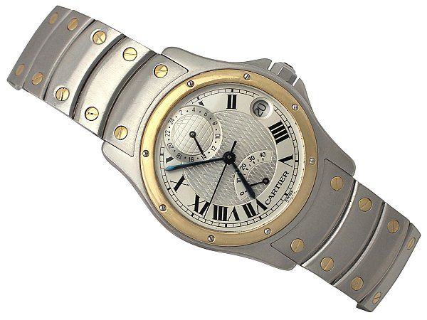 Cartier Santos Limited Edition 18ct Yellow Gold & Stainless Steel Gent's Wrist Watch - 1997  http://www.acsilver.co.uk/shop/pc/Cartier-Santos-Limited-Edition-18ct-Yellow-Gold-Stainless-Steel-Gent-s-Wrist-Watch-1997-147p5095.htm