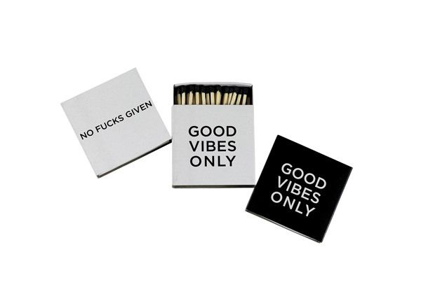 Good Vibes/No Fucks - Match Trio Set from DAMSELFLY
