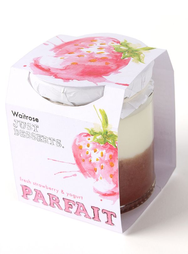 Waitrose Just Desserts Packaging by Ciaran Murphy, via Behance