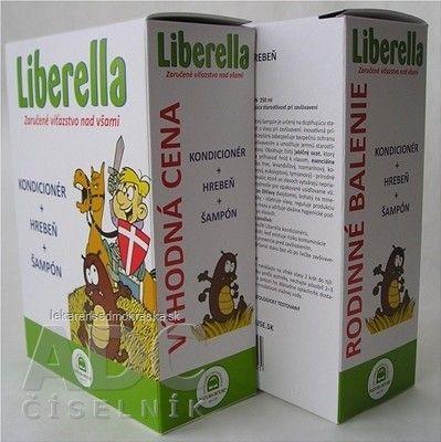 NH - Liberella rodinné balenie - (kondicionér 125 ml + hrebeň + šampón 250 ml) 1x1 set