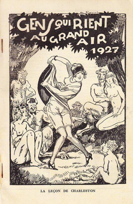 msbehavoyeur:  The lesson of Charleston ~ Almanach Gens qui Rient au Grand Air (1927) via