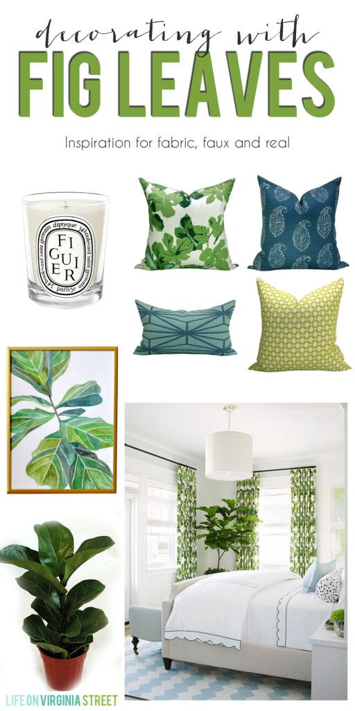 Decorating With Fig Leaves - inspiration and ways to get the look - Life On Virginia Street