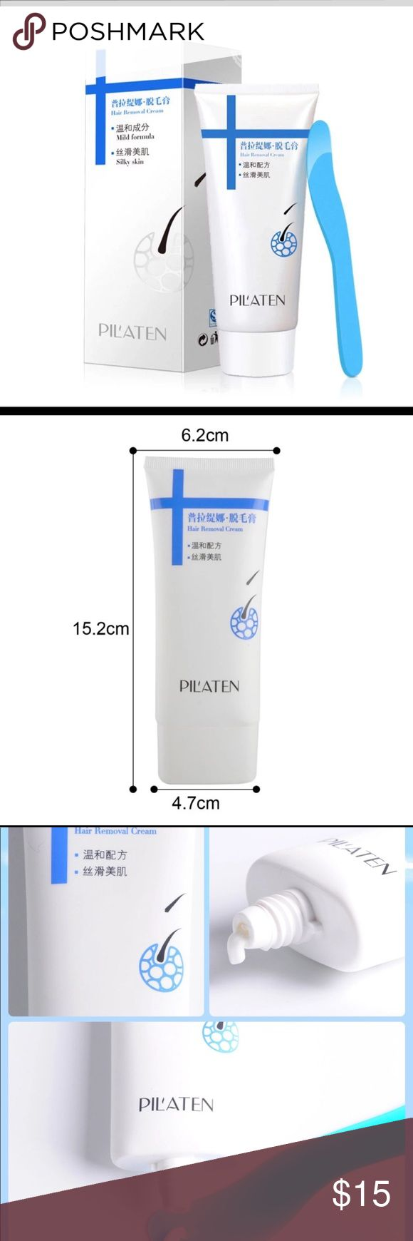 Pilaten Painless Depilatory Cream Legs , Armpit Pilaten Painless Depilatory cream Legs Depilation Cream for Hair Removal Men and women for armpit. Condition: A brand - new, unopened, undamaged item, Model:cream Size: 100 g Tube  Gender: Unisex Shelf life: 3 years Features: destroy hair roots, slow future hair growth. Haw to use: 1.Apply on a dry skin 2.Take appropriate amount and spread evenly across the traget area 3.Wait for 5 to 10 minutes 4.Wipe or scrape the cream and hair away 5.Rinse…