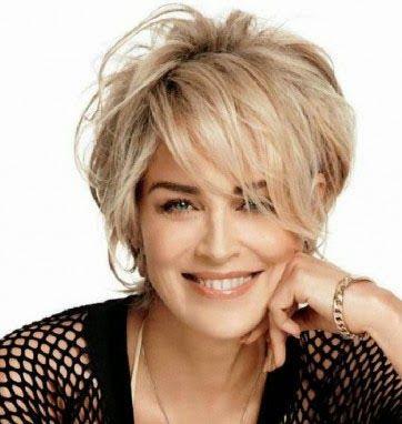 Tremendous 1000 Ideas About Sharon Stone Hairstyles On Pinterest Sharon Short Hairstyles Gunalazisus