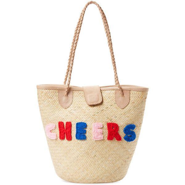 Mua Mua Dolls Cheers Rattan Small Tote - Cream/Tan (€84) ❤ liked on Polyvore featuring bags, handbags, tote bags, cream tote, white purse, white tote purse, cream purse and white tote handbags