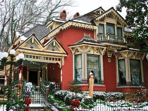 ~ Victorian House Decorated for Christmas ~ Eureka Springs, Arkansas