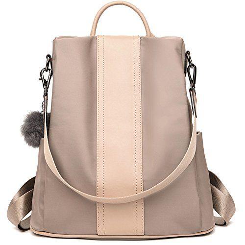 Good  22.99 Backpack for Women Purse Nylon Rucksack Lightweight Casual  Backpacks Daypack Shoulder Bags (Khaki)  Backpack  Backpacks  Bags  Casual   Daypack ... b3125f0a9ba18