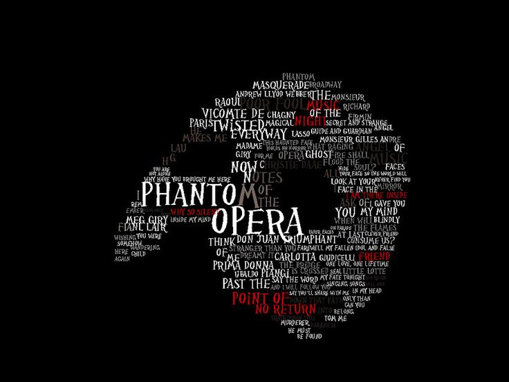 phantom of the opera clip art | phantom of the opera typography by ~ praetor-FEMI