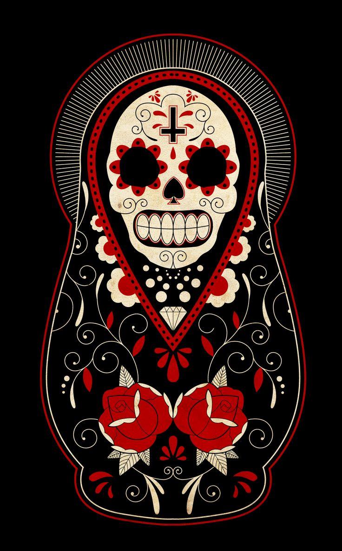 day_of_the_dead_russian_dolls_by_paulorocker-d3985wo.jpg (1466×2363)