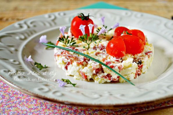 Recette tartare facile - Tartare pomme pata negra et brousse chez Kaderick en Kuizinn