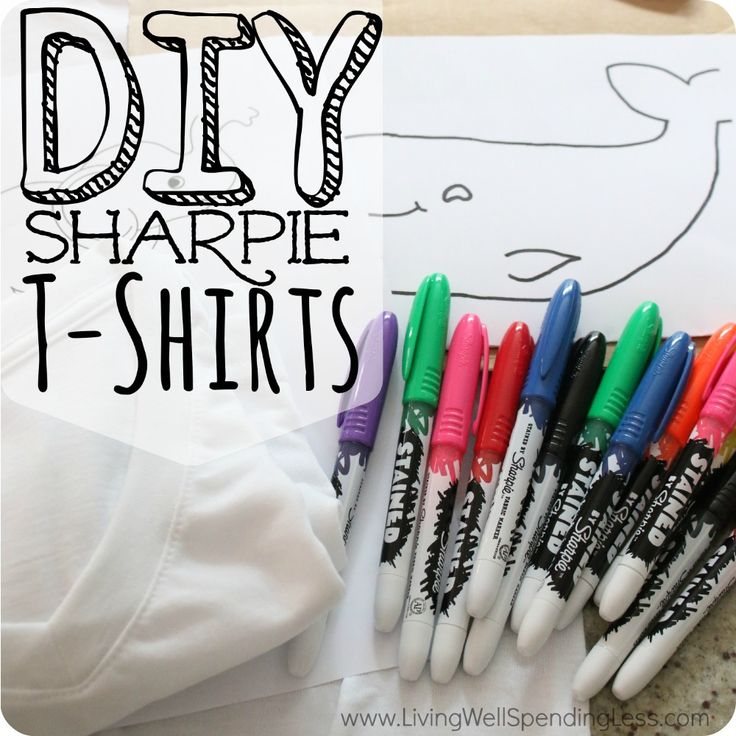 Want to let your kids express themselves without all the mess of tie-dye? Instead create sharpie stained t-shirts they will love designing and wearing!
