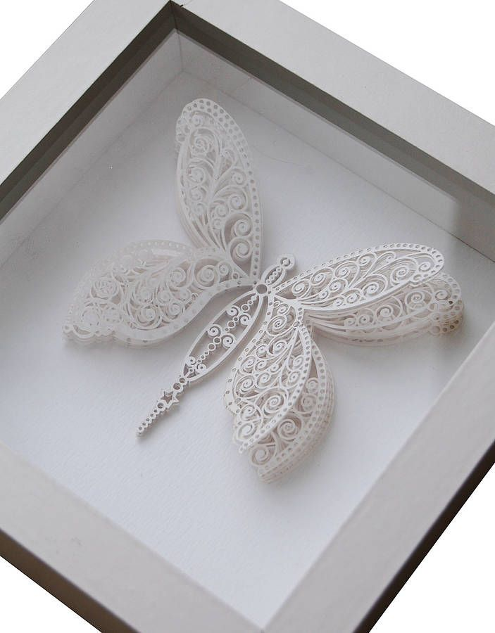 personalised laser cut butterfly box artwork by the hummingbird card company | notonthehighstreet.com
