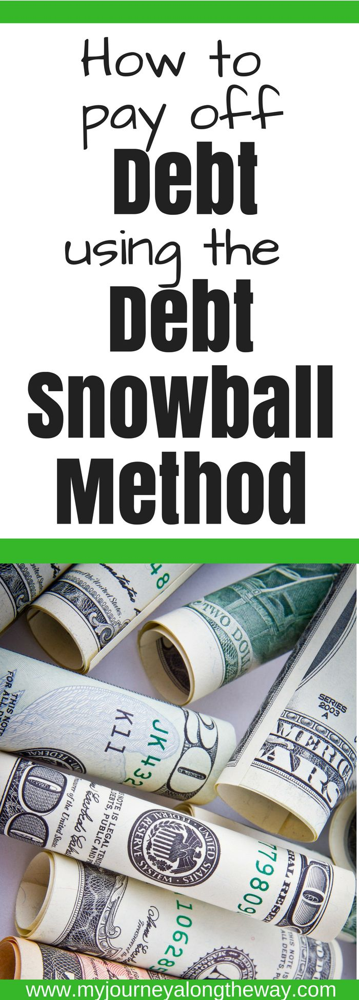 If you are looking to pay off debt, the debt snowball method is the best method to help you get that ball rolling. Join the debt snowball challenge today! #debt #budget