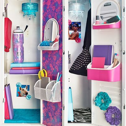 Getting ready for back-to-school. Transform your locker. I know mine never looked like this! #lockersandlunches
