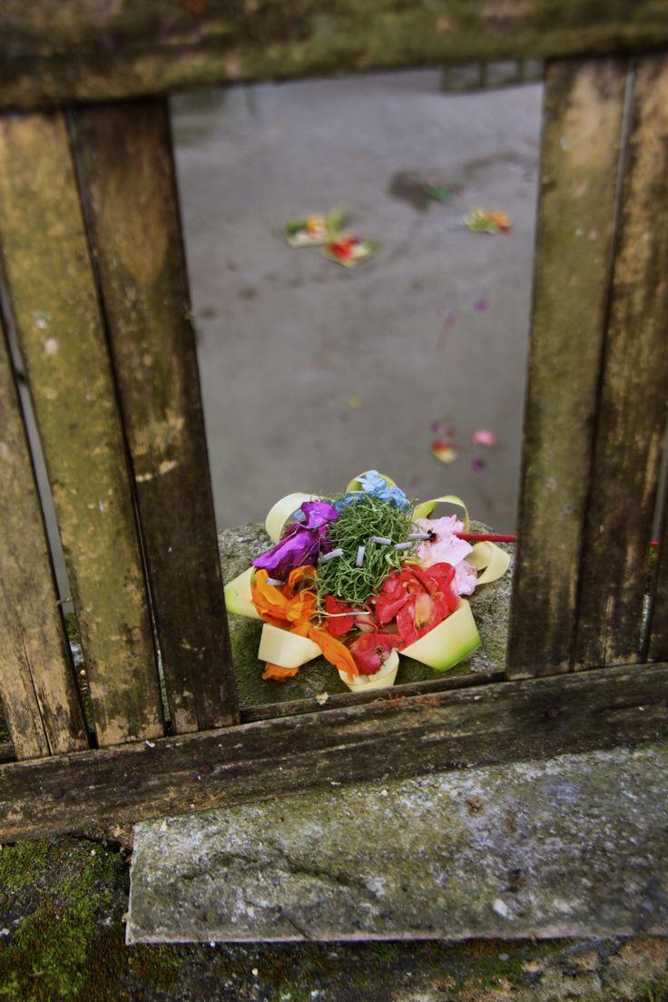 bunga sesajen ( Bali )