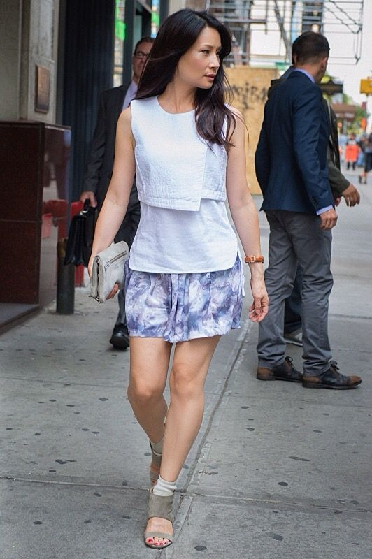 Lucy Liu is pretty summer outfit.