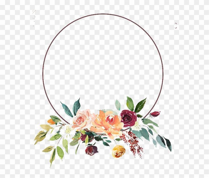 Floral Png Floral Png Round Flower Frame Png Transparent Png 580x635 Pngfind Flower Frame Png Flower Frame Floral