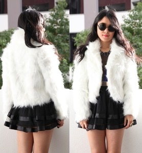 i want a cropped white fur coat as my wedding day coat <3