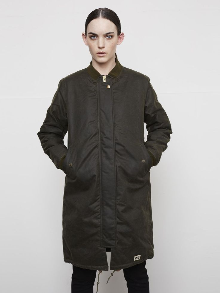 E.M Bomber - Olive via Brixtol. Click on the image to see more!