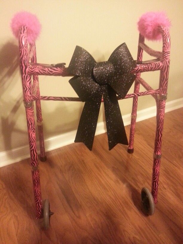 Decorated a handicap walker as a retirement gift. Used ...