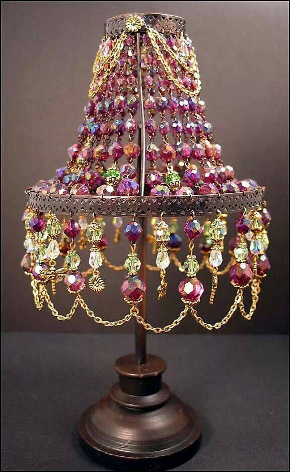 17 best images about diy crafts on pinterest romantic for Beaded chandelier lamp shades