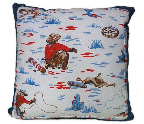 cowboy cushion kath kidson fabric combined with by