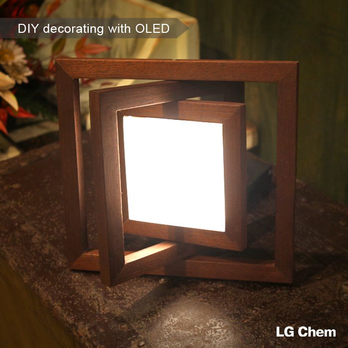 219 best lamparas images on pinterest light design lighting looking for a new diy project to make with your kids why not a wodden oled lamp with the oled diy kit by lg display solutioingenieria Gallery