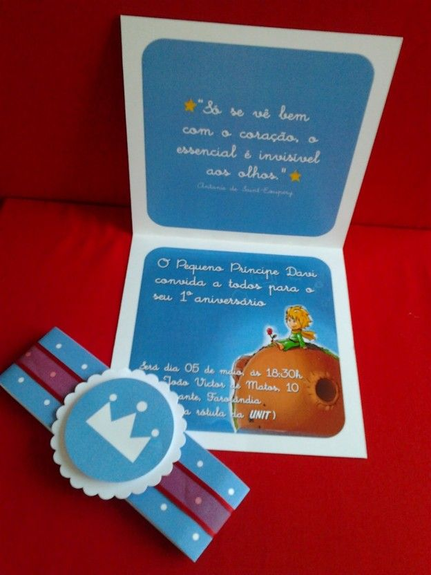 the little prince kids party invitation