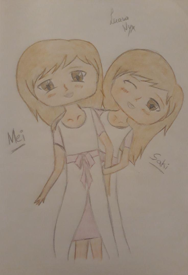 """Die Zwillinge Mei und Saki aus meiner FF """"The Legend of Zelda Chaos WG \^-^/"""", aus dem Fandom The Legend of Zelda. Zu finden auf Fanfiktion.de auf dem Profil von LucinaNyx."""