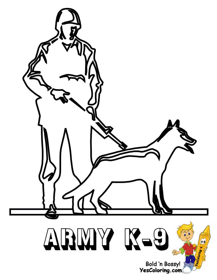 army k 9 coloring pageyou can print out this army