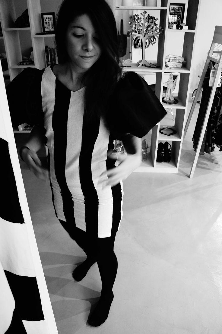 Personal outfit post:: B&W weirdo #lbd #blackandwhite #bodycon #dress