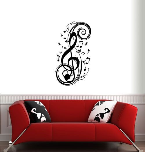MUSIC NOTES ver.2 Wall Decals by 7decals on Etsy, $19.99