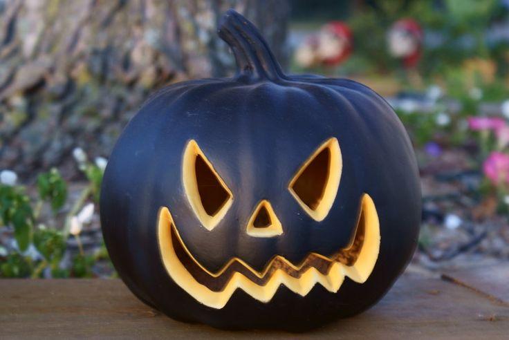 Black Carved Pumpkin