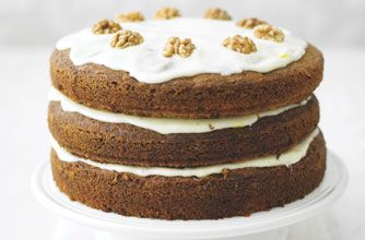 Lorraine Pascale, star of BBC show Baking Made Easy, calls this recipe a, 'A no-holds-barred cake with three moist spiced layers of pure excess.'