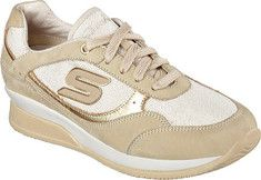 Women's+Skechers+Wedge+Fit+Vita+Sneaker+-+Gold+with+FREE+Shipping+&+Exchanges.+Raise+the+stakes+in+sleek+style+with+the+SKECHERS+Wedge+Fit:+Vita+shoe.+