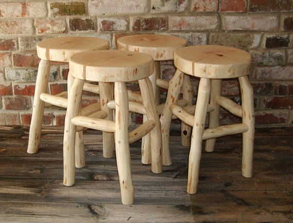 Birch slice wood wooden log stool furniture unique natural