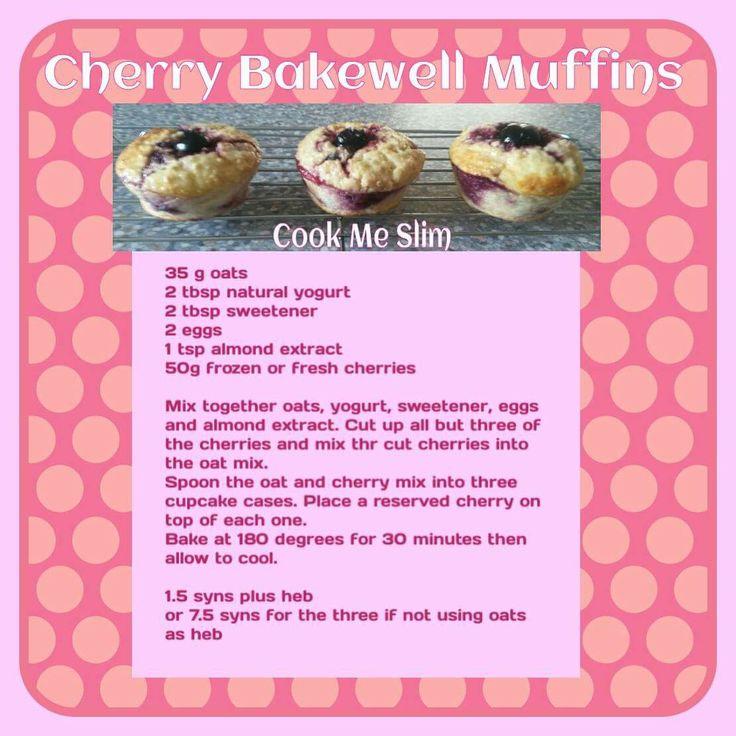 Cherry Bakewell Muffins