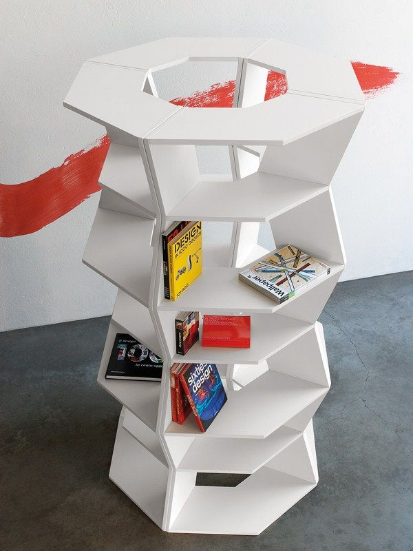 Open sectional modular #bookcase ZIG ZAG by B-LINE design Aziz Sariyer @blinedesign