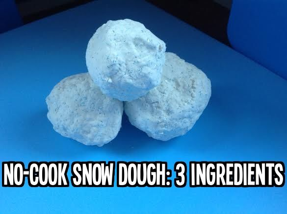 No-Cook Snow Dough: 3 Ingredients